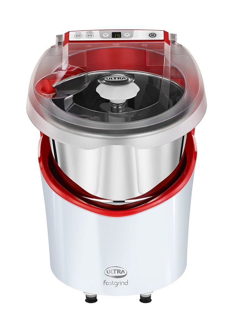 Elgi Ultra Plastic Fast Grind Table Top Wet Grinder (Fortune Red, 2 L)