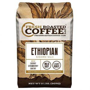 Fresh Roasted Coffee LLC Ethiopian Sidamo Guji Coffee