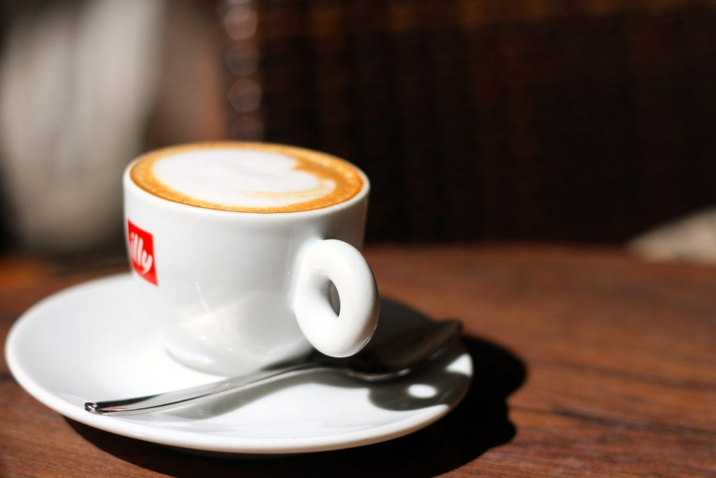 Illy Cup of Italian coffee